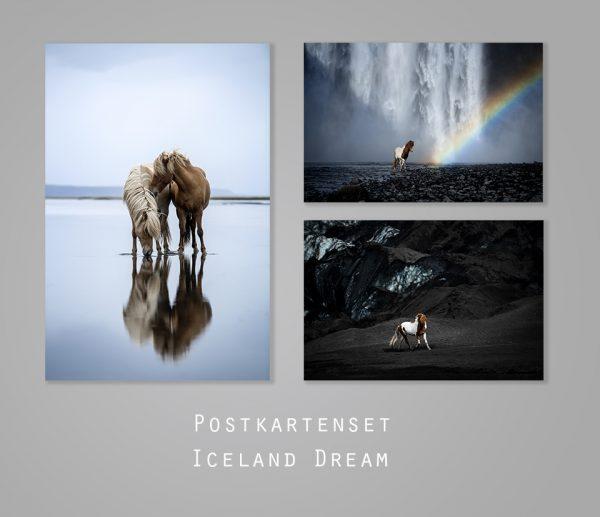 postkartenset isländer iceland dream ponyliebe